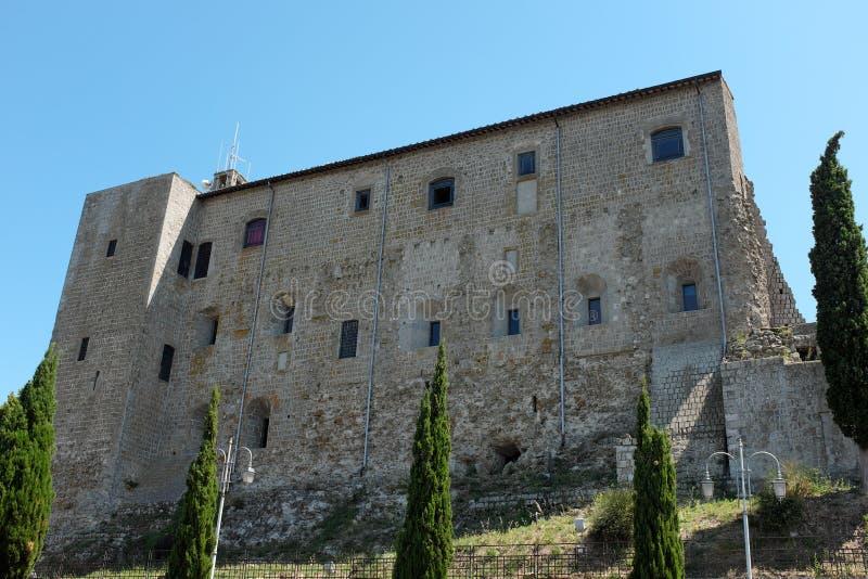 Pałac Rocca dei Papi w Montefiascone zdjęcie royalty free