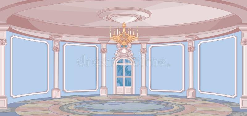 Pałac sala royalty ilustracja