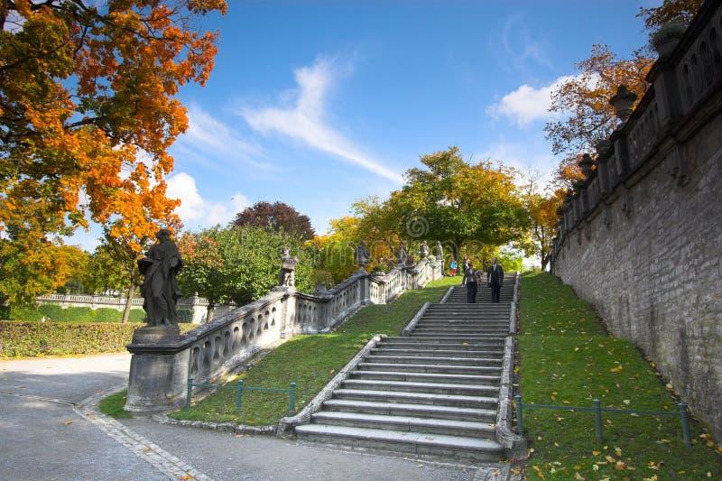 pałac schody Wurzburg obrazy royalty free