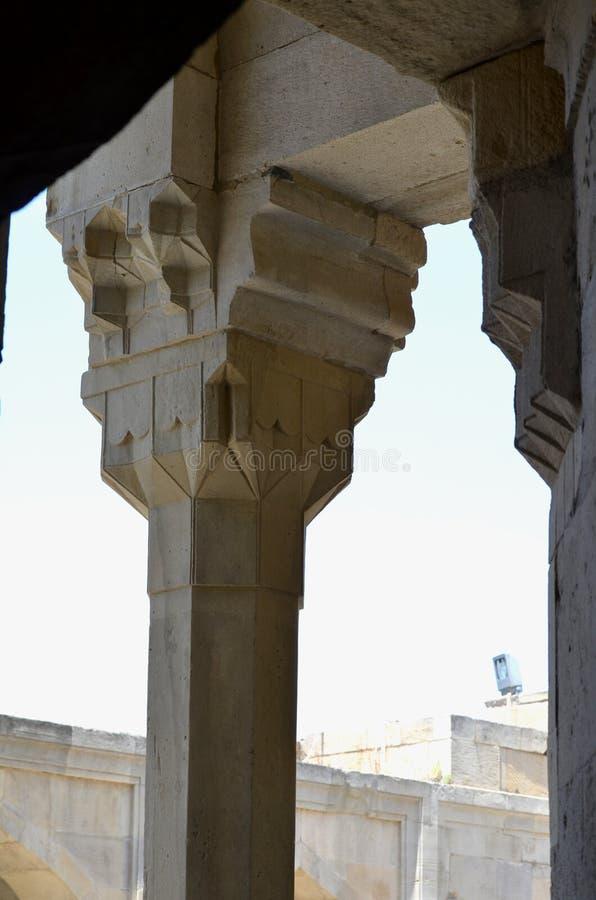 Pałac Shirvanshahs w starym miasteczku Baku, stolica Azerbejdżan obraz stock