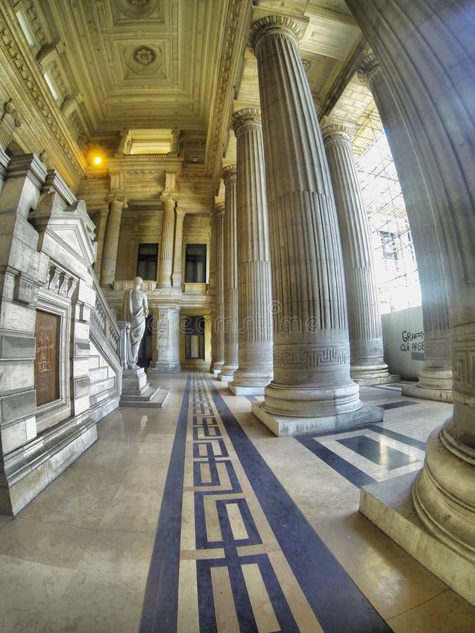 Pałac sprawiedliwość w Bruksela, Belgia obraz royalty free