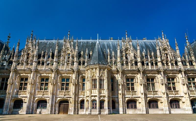 Pałac sprawiedliwość w Rouen, Normandy -, Francja obraz stock
