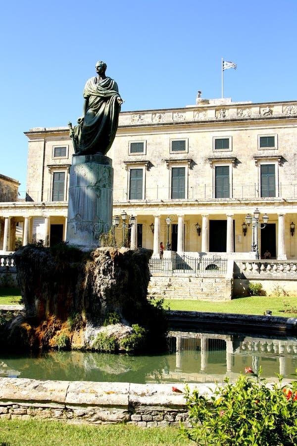 Pałac St Michael i St George w Corfu zdjęcia royalty free