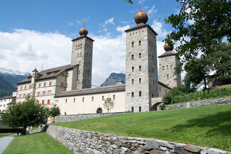 Pałac Stockalper, bryg, Valais, Szwajcaria obrazy stock