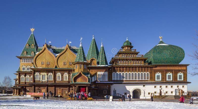 Pałac Tsar Alexei Mikhailovich w Kolomenskoye obrazy stock
