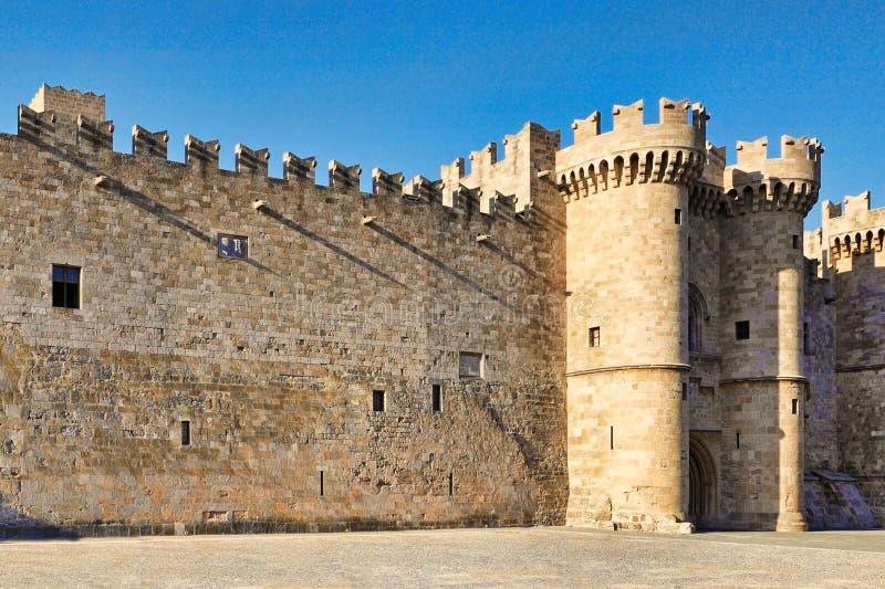 Pałac Uroczysty mistrz rycerze Rhodes, Grecja obrazy royalty free