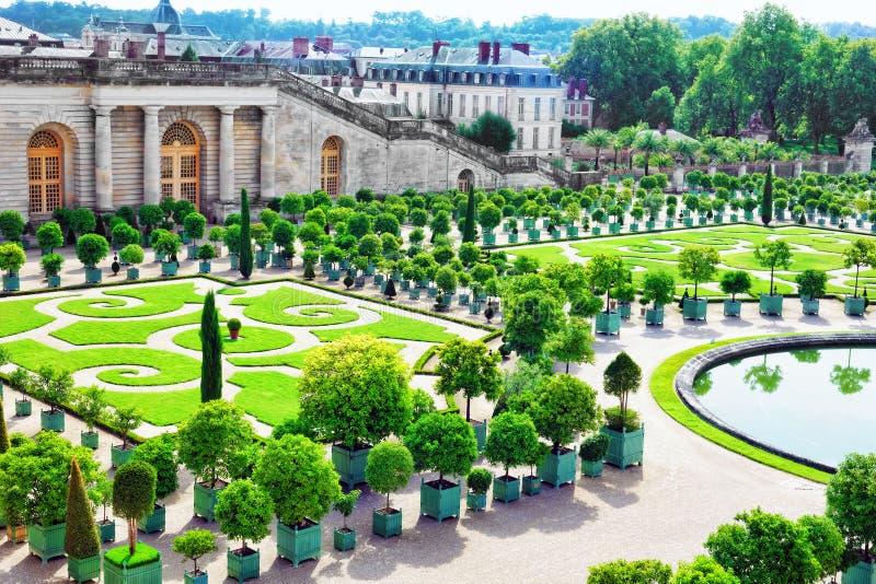 Pałac Versailles, Królewska oranżeria. zdjęcie stock