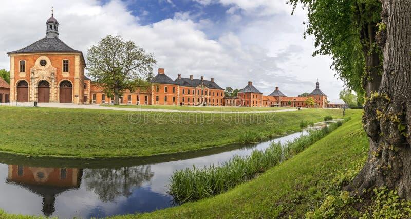 Pałacowy rezydencja ziemska domu zespół Schloss Bothmer Niemcy zdjęcie stock