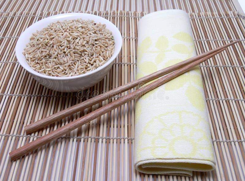 pałeczki azjatykci ryżu fotografia stock