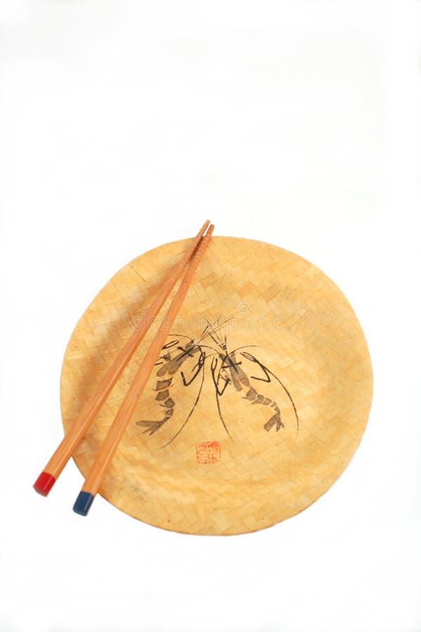 pałeczki płytkę oreintal styl obrazy royalty free