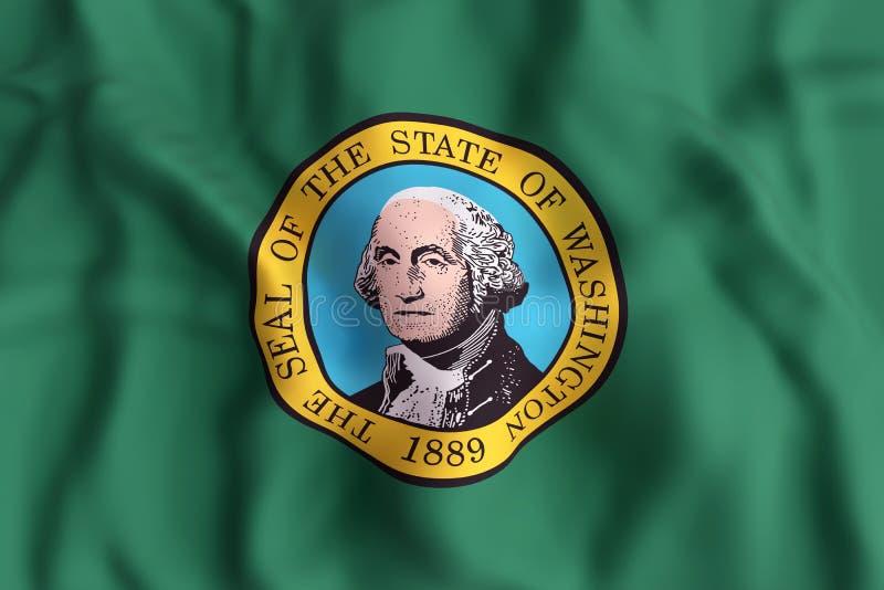 państwo bandery Washington ilustracji