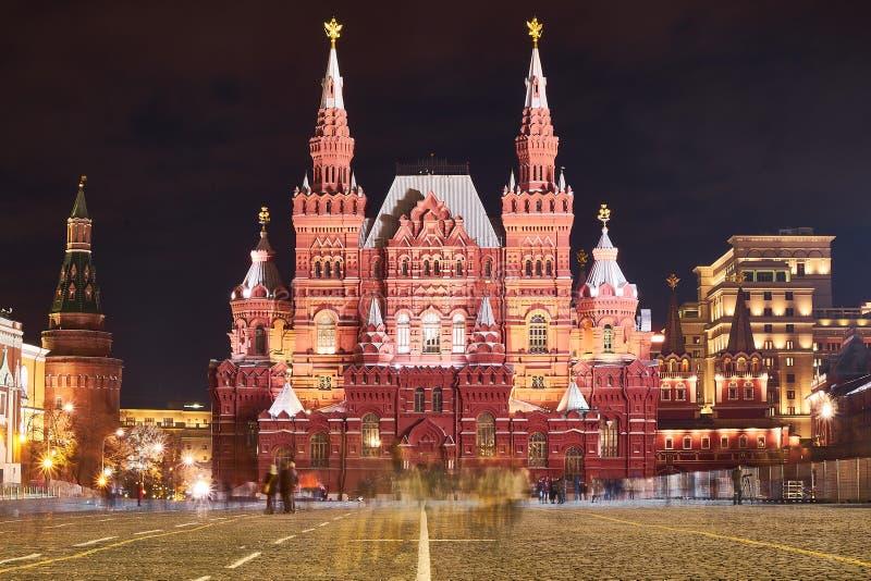 Państwowe Muzeum Historyczne w Nocy, Moskwa, Rosja zdjęcie royalty free