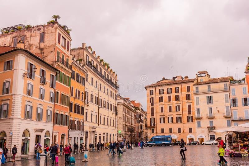 Październik 28, 2018 rome Włochy Kwadratowy Hiszpania - piazza Di Spagna fotografia stock