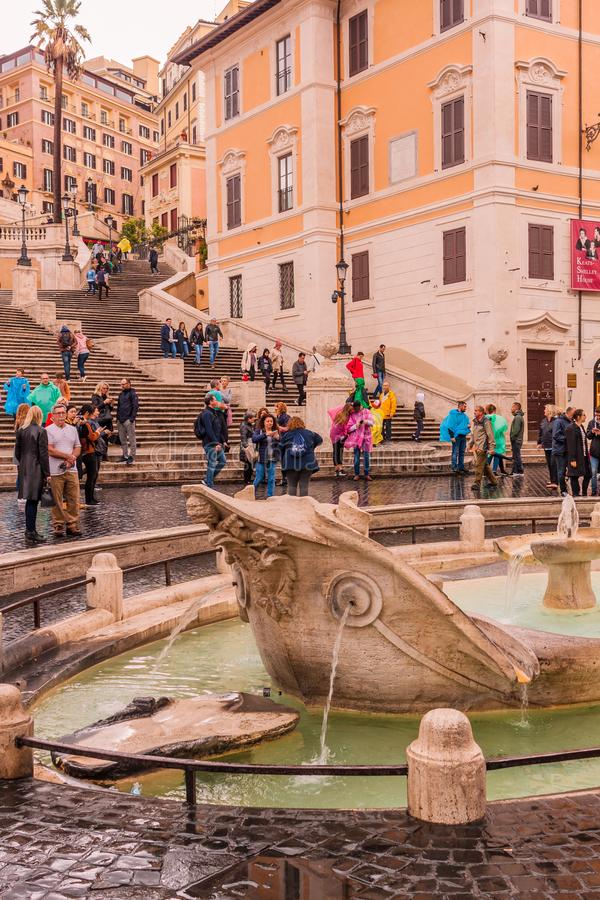 Październik 28, 2018 rome Włochy Kwadratowy Hiszpania - piazza Di Spagna obrazy stock