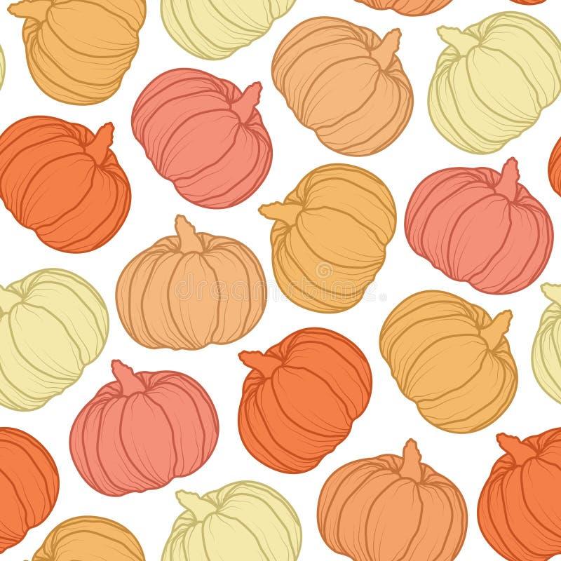 Października bezszwowy wzór Halloweenowy vectorcolorful tło obrazy royalty free