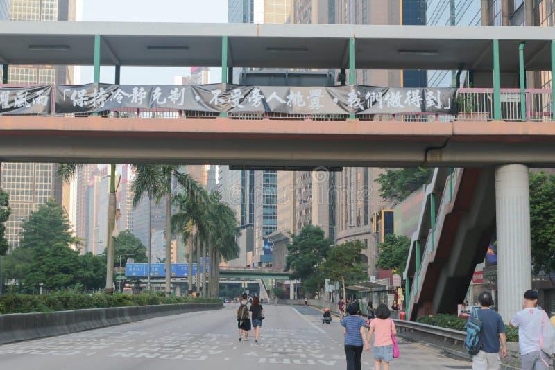 5 października 2014 r. - Parasolkowa Rewolucja Hong kong obraz royalty free