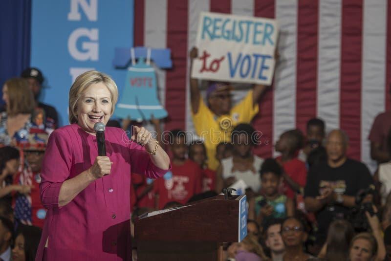 PA: Καταγραφή ψηφοφόρων της Χίλαρι Κλίντον Φιλαδέλφεια στοκ εικόνα