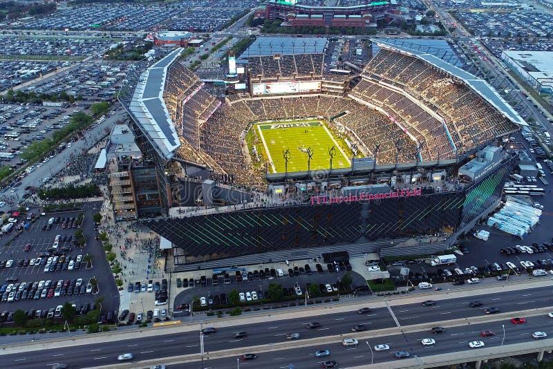 PA Филадельфии поля Линкольна вида с воздуха финансовое стоковое изображение