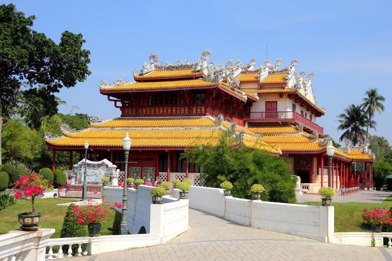 PA челки в королевском дворце, Ayutthaya, Таиланде 5 стоковое фото rf