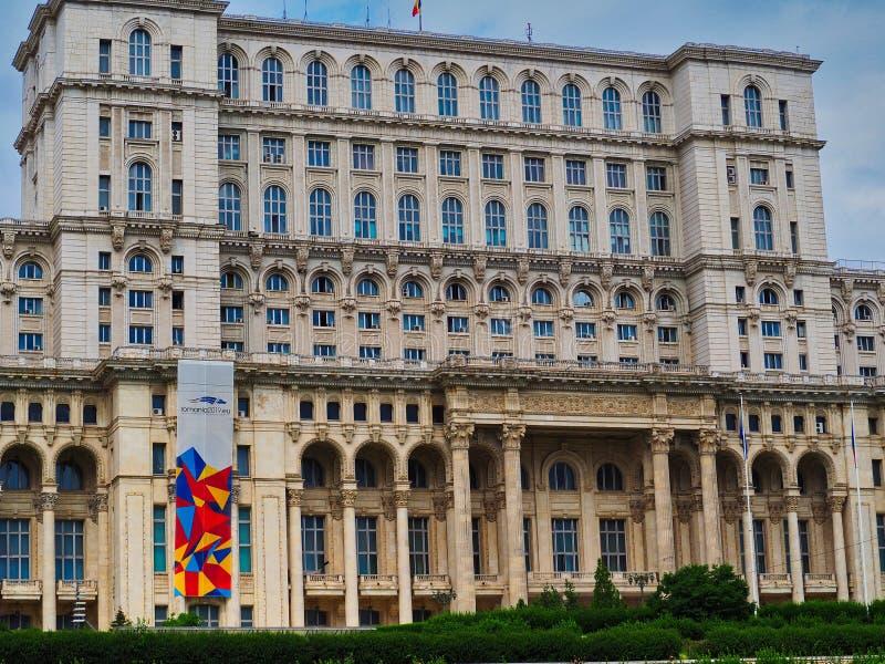 Pa?ac Parlament, Bucharest, Rumunia zdjęcie royalty free
