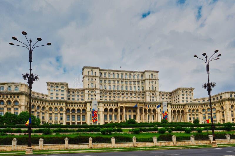 Pa?ac Parlament, Bucharest, Rumunia obrazy royalty free