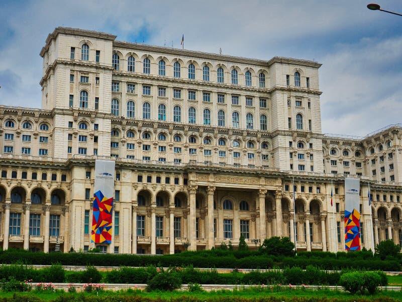 Pa?ac Parlament, Bucharest, Rumunia fotografia stock