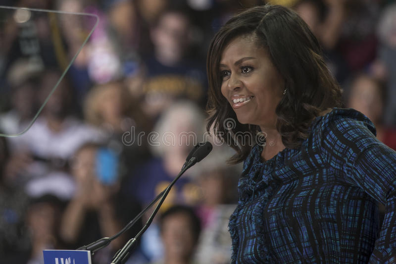 PA: First Lady Michelle Obama for Hillary Clinton in Philadelphia. 27 September 2016 - Philadelphia ,USA - First Lady Michelle Obama holds campaign rally for stock images