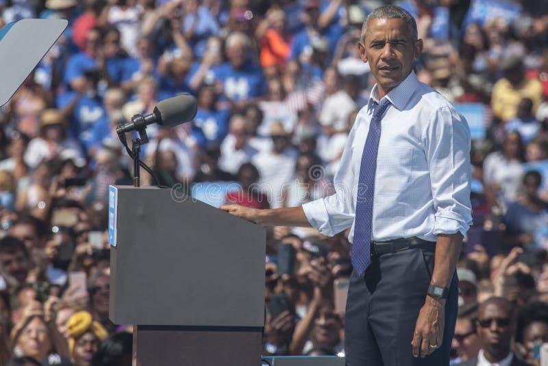 PA : Le Président Barack Obama pour Hillary Clinton à Philadelphie photo libre de droits