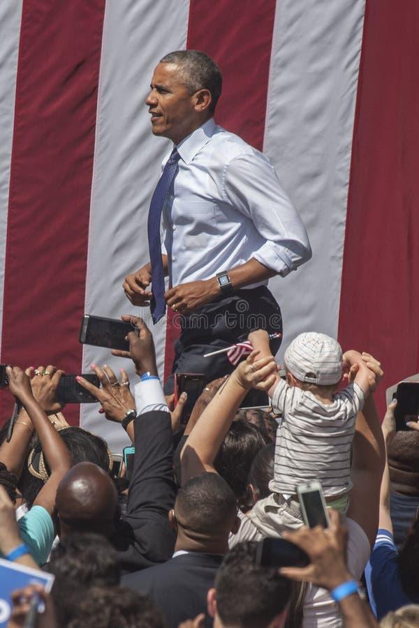 PA : Le Président Barack Obama pour Hillary Clinton à Philadelphie images libres de droits