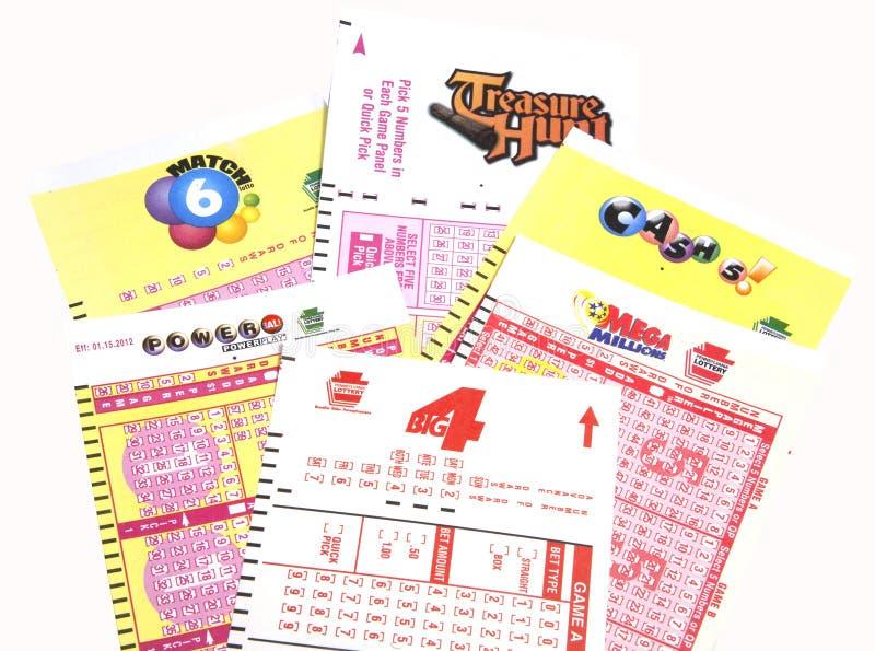pa loteryjni bilety zdjęcie royalty free