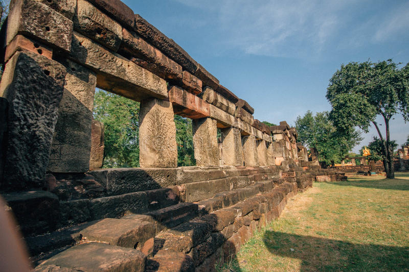Pa nom wan ancient castle. At thailand royalty free stock photography