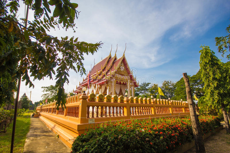 Pa nom wan temple. At thailand royalty free stock images