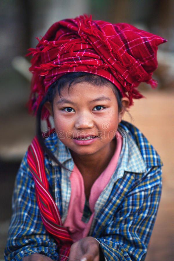 Download Pa-O tribe girl, Burma editorial photography. Image of little - 24329167
