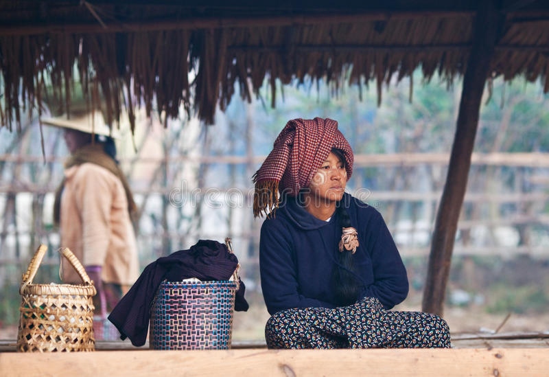 Download Pa-O Tribe Woman, Myanmar Editorial Photography - Image: 23058947