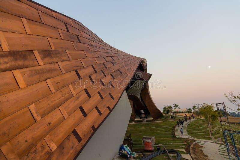 PA SAN, the new landmark of Pak Nam Pho NAKHONSAWAN, THAILAND. NAKHONSAWAN, THAILAND - December 10, 2019 : PA SAN, the new landmark of Pak Nam Pho Located at the stock photography