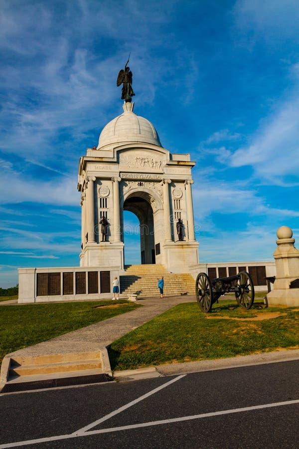PA stanu pomnik w Gettysburg zdjęcie royalty free