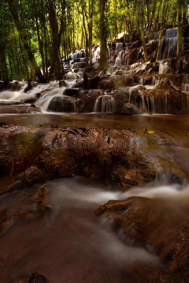 Pa Wai Waterfall Tak Thailand. Mae Sot District royalty free stock images