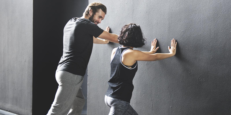 Paar-Übungs-erwachsener Athlet Sporty Training Concept lizenzfreie stockfotos