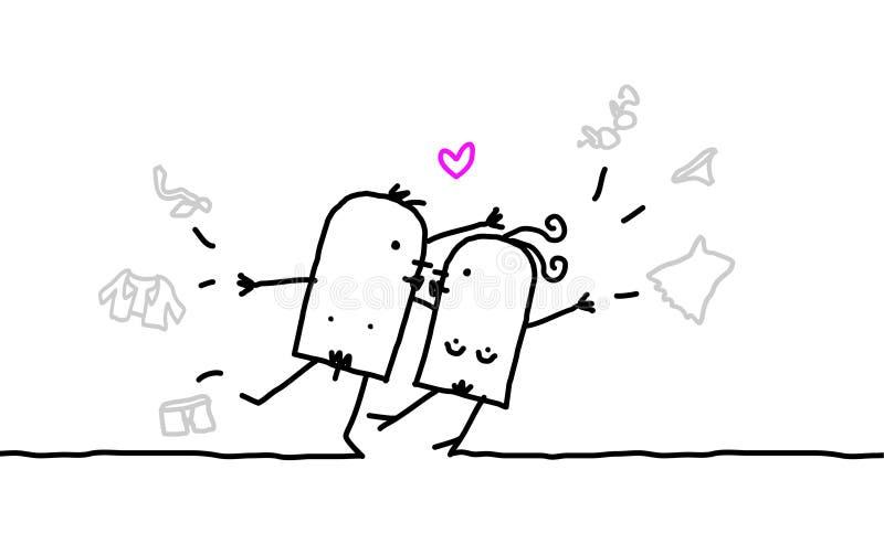 Paar & geslacht vector illustratie