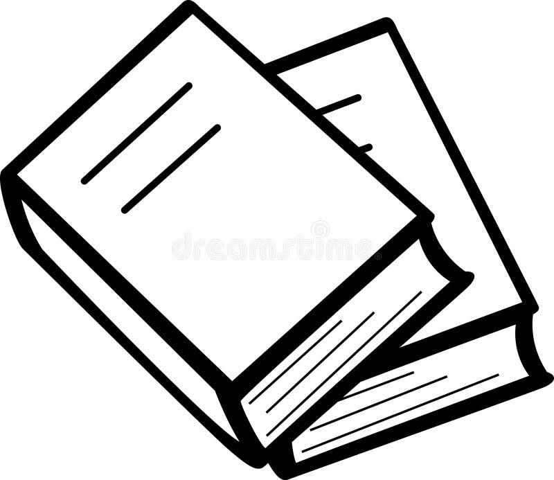 Paar boeken vector illustratie