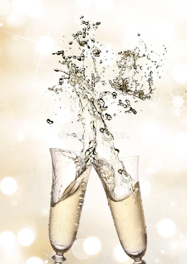 Paar champagnefluiten royalty-vrije stock afbeelding
