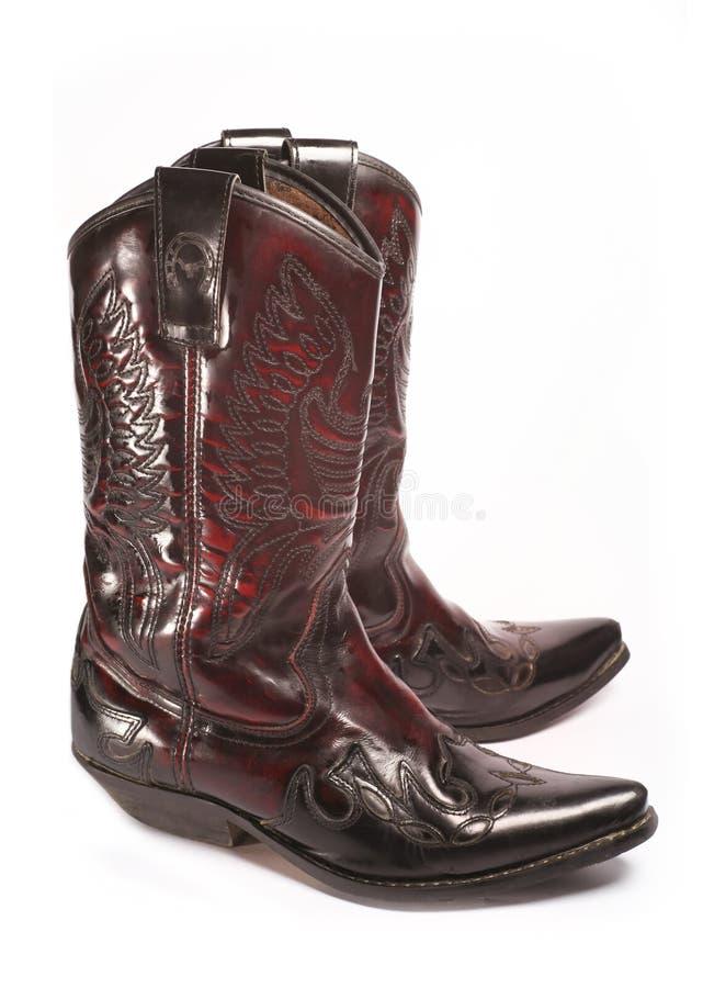 Paar cowboylaarzen stock afbeelding