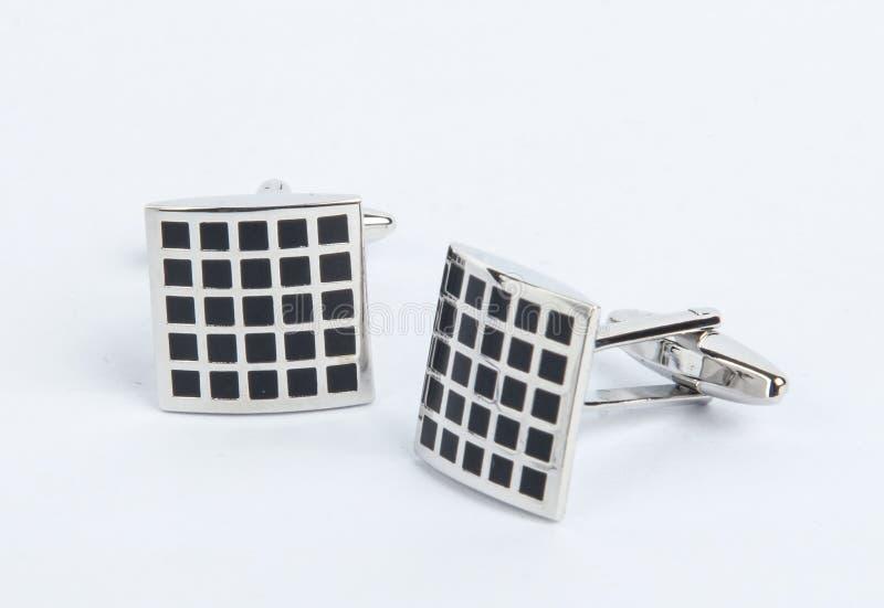 Paar cufflinks royalty-vrije stock foto