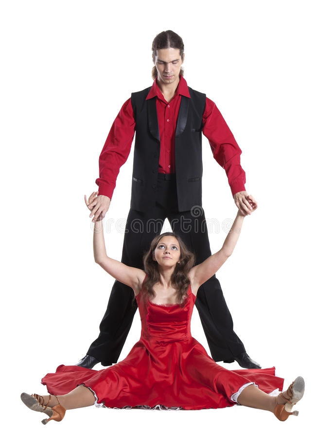 Paar dansende schommeling royalty-vrije stock foto's