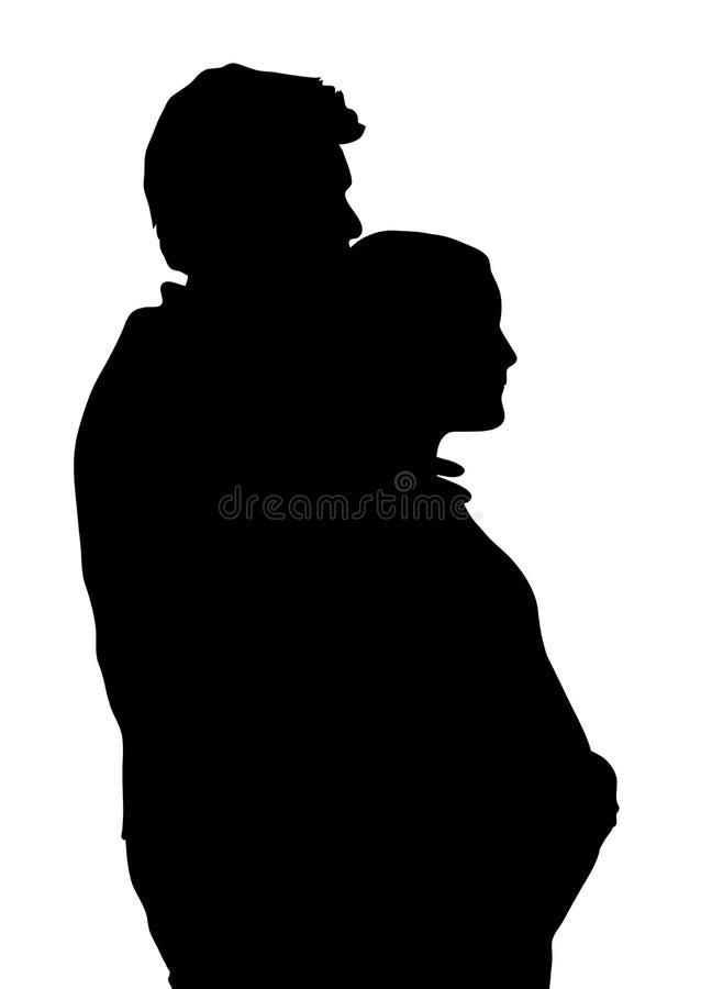 Paar dat 1 verwacht royalty-vrije illustratie