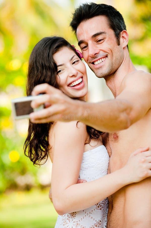 Paar dat Foto neemt royalty-vrije stock afbeeldingen