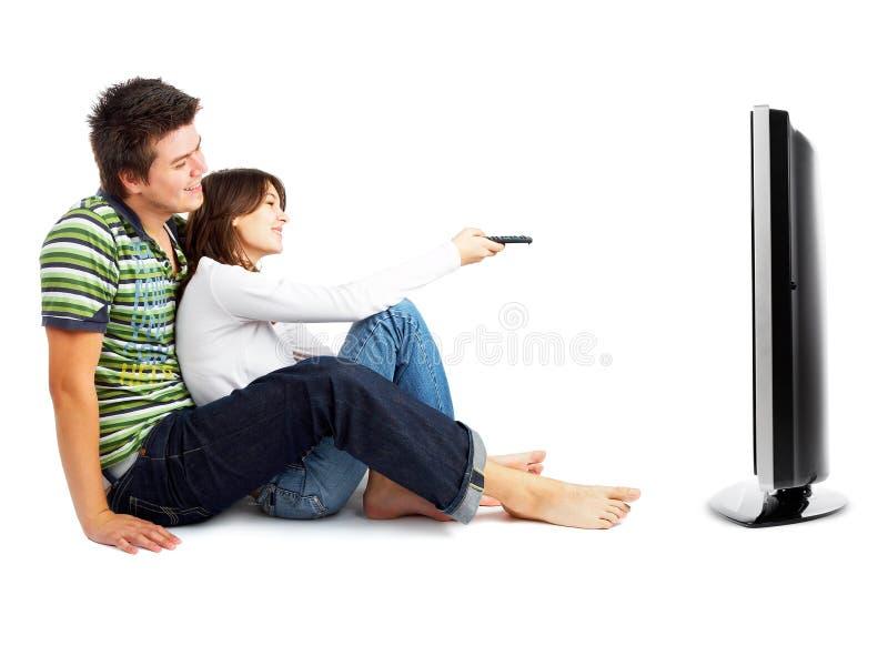 Paar dat op TV let