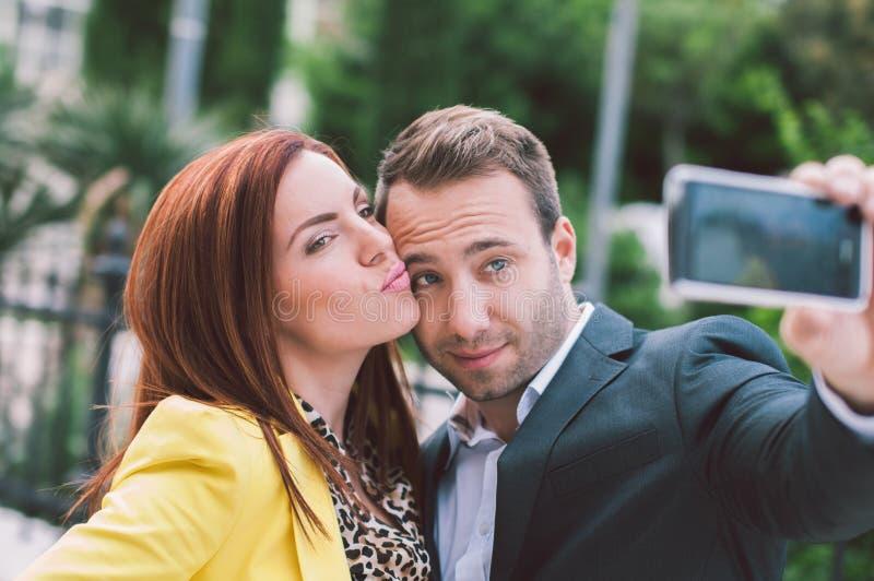 Paar dat pret heeft royalty-vrije stock fotografie