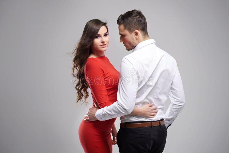 Paar in de dag van Valentine ` s royalty-vrije stock afbeeldingen