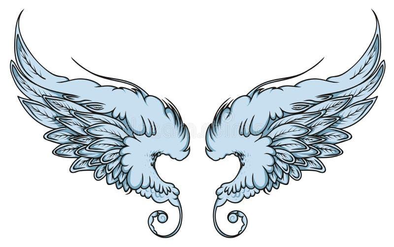 Paar de vogel of de engelenvleugels van de verspreidings uit adelaar royalty-vrije stock fotografie